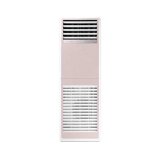 비스포크 스탠드형 인버터 중대형 냉난방기 30평형 핑크 380V