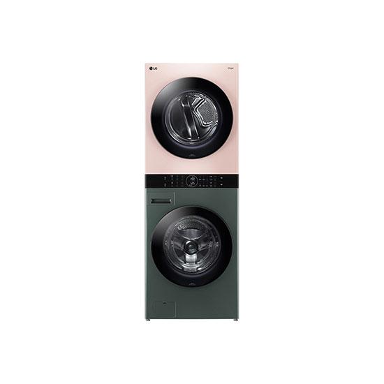 오브제컬렉션 워시타워 세탁건조기 24kg+16kg 네이처그린/핑크
