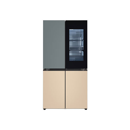 오브제컬렉션 노크온 매직스페이스 냉장고 870L 보타닉 샌드