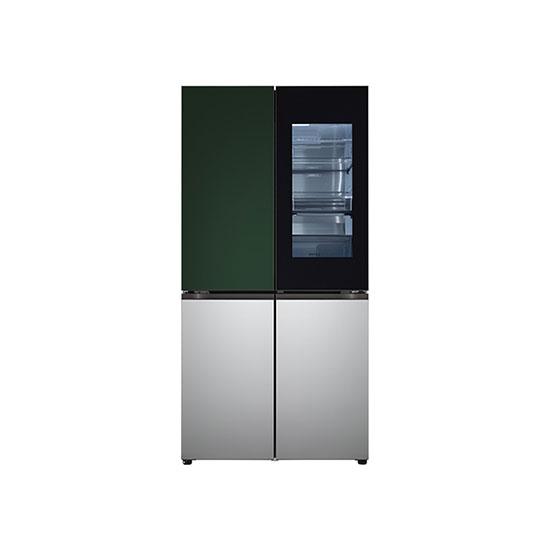 오브제컬렉션 노크온 매직스페이스 냉장고 870L 그린실버