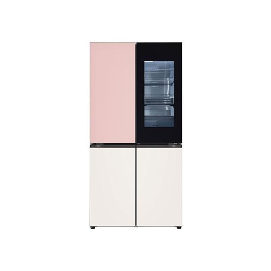오브제컬렉션 노크온 매직스페이스 냉장고 870L 핑크베이지