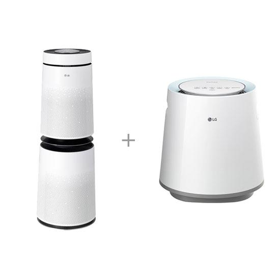 퓨리케어 가습기 5L+퓨리케어 360도 공기청정기 30평형