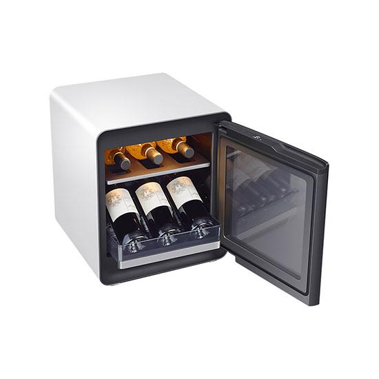 비스포크 큐브냉장고 25L+와인&비어 수납존 화이트