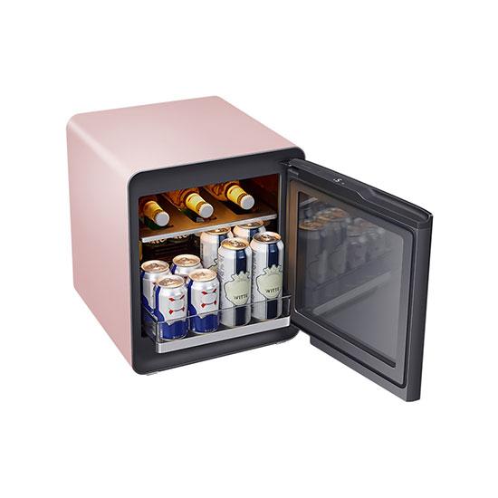 비스포크 큐브냉장고 25L+멀티 수납존 프라임핑크