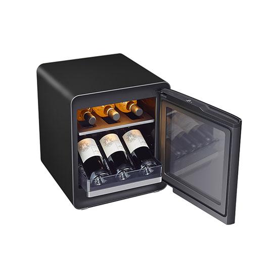 비스포크 큐브냉장고 25L+와인&비어 수납존 차콜