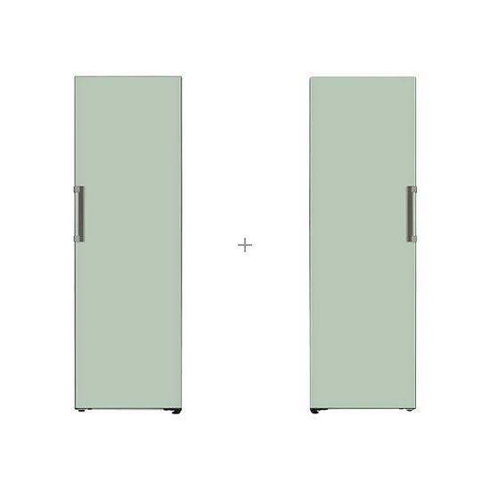 오브제컬렉션 컨버터블 냉장전용고 384L 민트+오브제컬렉션 컨버터블 냉동전용고 321L 민트