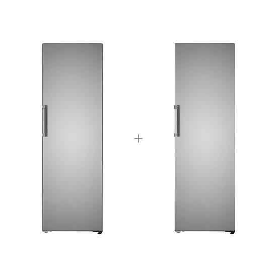 오브제컬렉션 컨버터블 김치냉장고 324L 스테인리스 실버+오브제컬렉션 컨버터블 냉장전용고 384L 스테인리스 실버