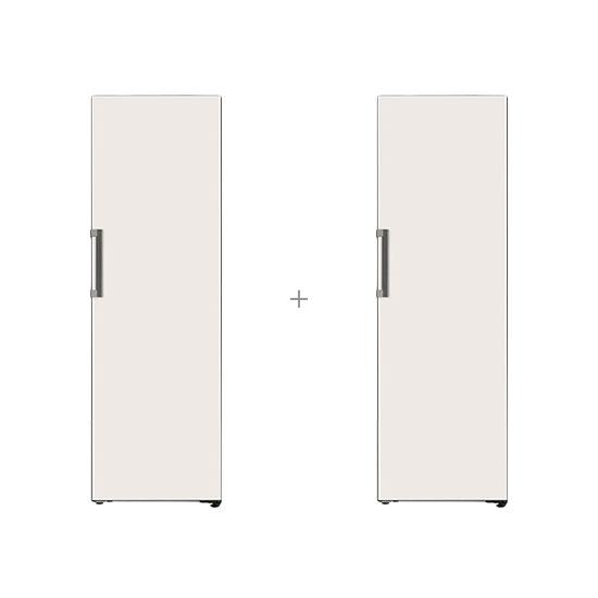 오브제컬렉션 컨버터블 김치냉장고 324L 베이지+오브제컬렉션 컨버터블 냉장전용고 384L 베이지