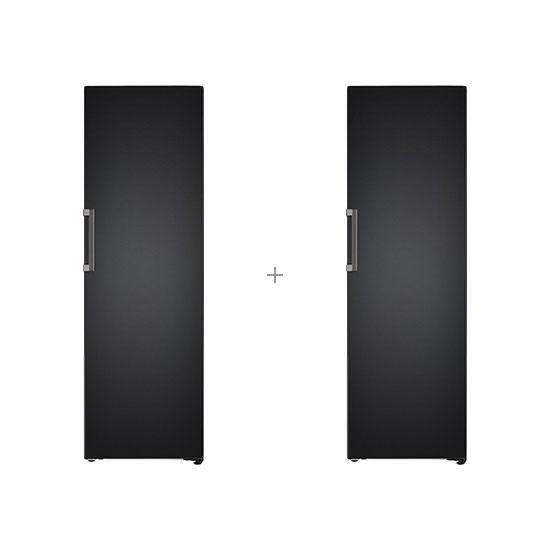 오브제컬렉션 컨버터블 냉장전용고 384L 맨해튼미드나잇+오브제컬렉션 컨버터블 김치냉장고 324L 맨해튼미드나잇