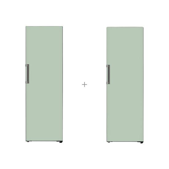 오브제컬렉션 컨버터블 냉장전용고 384L 민트+오브제컬렉션 컨버터블 김치냉장고 324L 민트
