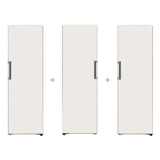 오브제컬렉션 컨버터블 냉동전용고 321L 베이지+오브제컬렉션 컨버터블 김치냉장고 324L 베이지+오브제컬렉션 컨버터블 냉장전용고 384L 베이지