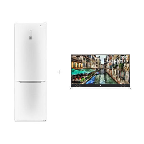 안드로이드 QLED TV 55인치 스탠드형+클라윈드 콤비 냉장고 295L
