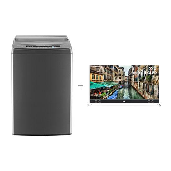 안드로이드 QLED TV 55인치 벽걸이형+클라윈드 통돌이 세탁기 18kg